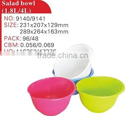 Passed GSG LFGB melamine food grade platic salad container large plastic salad bowl