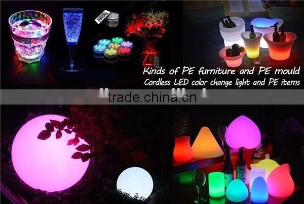 Modern Plastic Bar Furniture Colors Changing LED Illuminated Chair
