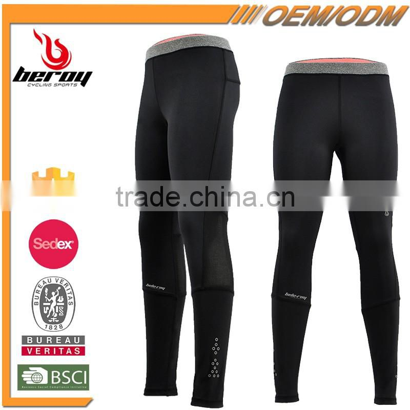 BEROY Fitness Elastane Compression Tights, Dry Fit Leggings