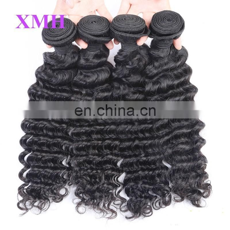 Best quality 100%unprecessed virgin hair bundles deep wave cuticle aligned hair