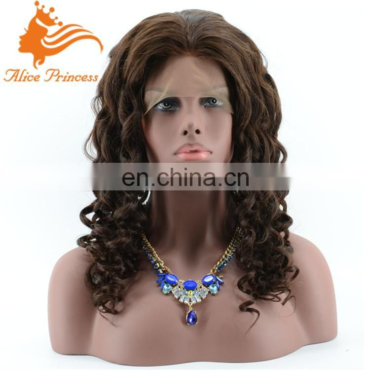 180% density full lace wig with baby hair curly human hair full head wigs natural girls hair wig