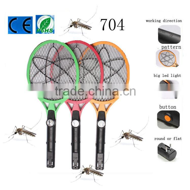 Rechargeable mosquito killer racket & fly swatter hit & swatter hit