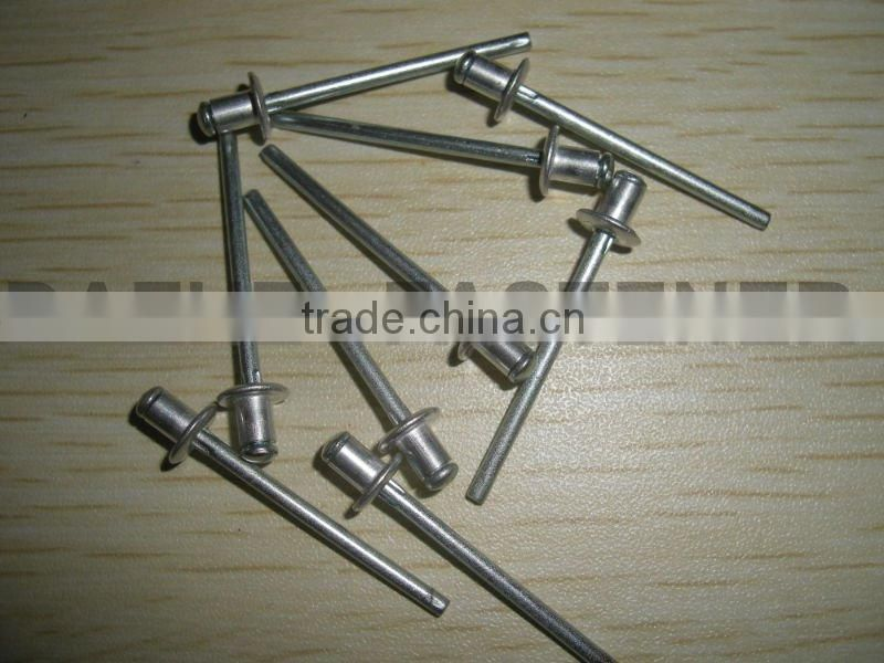 Domed head solid aluminum blind rivets DIN7337