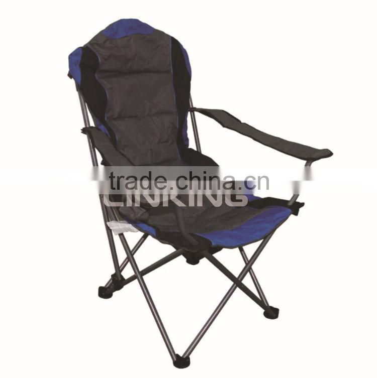 dark grey luxury camping chair filled with foam