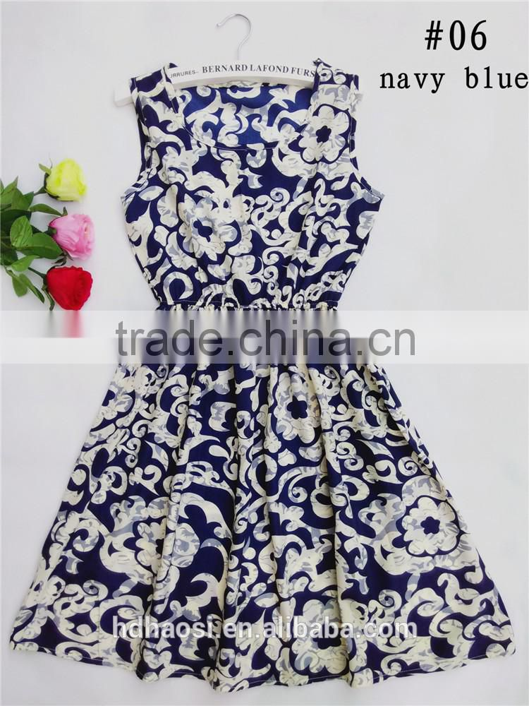 china factory wholesale price washable custom bohemian printed chiffon dress women printed fabric for dress