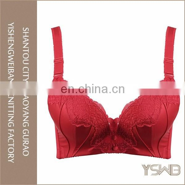 Newest style young girl red cotton anti-Bacterial	new fashion bra