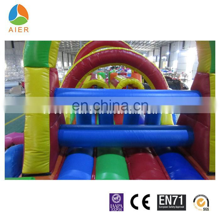 2015 Colorful Train cheap inflatable obstacle course