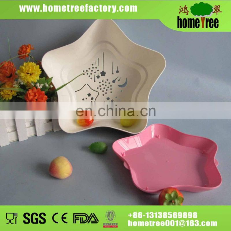 hot selling food grade cheap plastic basket with tray