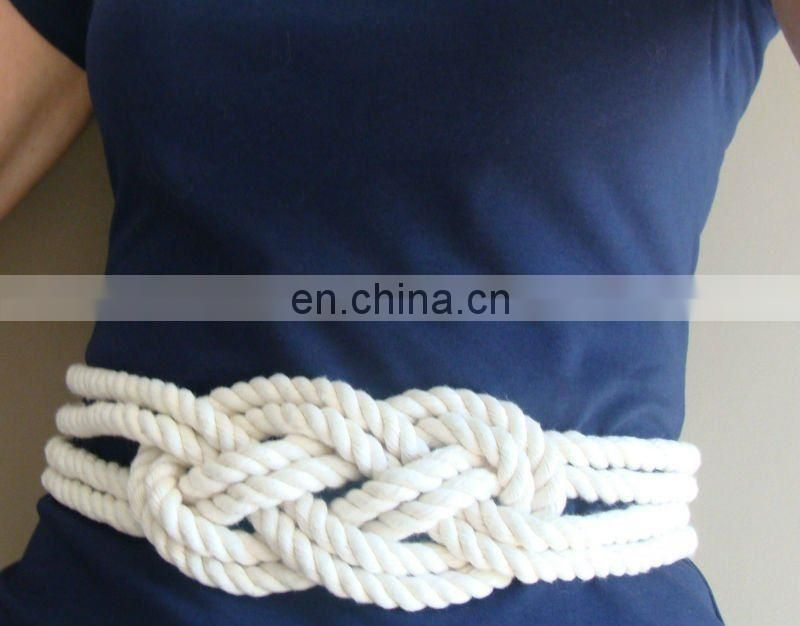nautical knot rope belts women belt woven belt cotton belt fashion belt wholesale belts