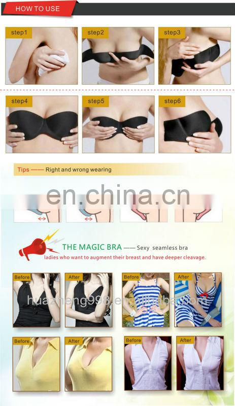 clear self adhesive invisible stick strapless one piece bra for wholesale