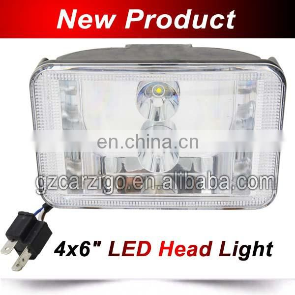 "guangdong led Customized 4X6"" semi truck headlamp with lowered/ Upper beam for Truck,heavy duty"