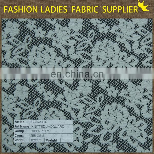 top-one china interlock knitted jacquard 2015 tea low price terry cotton knitting fabric soft nylon spandex fabric wholesale bag