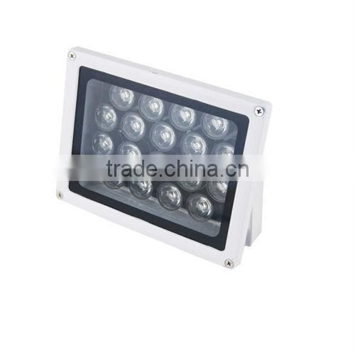 Super power IP67 waterproof Power input white light or IR security cctv led lamp 12v 10w