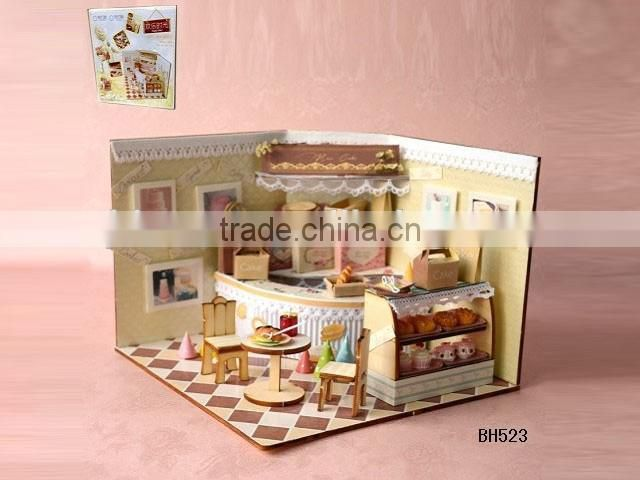 3D wooden Jigsaw Puzzle, three dimensional living room puzzle for kid, house play set for kids.