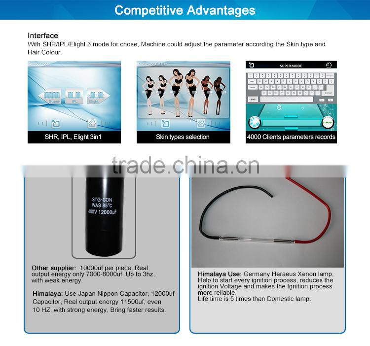 elight ipl hair removal Hair Removal machine facial treatment equipment