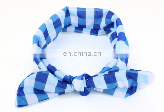 Newborn Gingham Headband Knotted Headwrap Wide Headband Top Knot Turban Headband For Baby