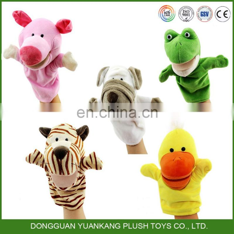 YK ISO14001 manufacturer professional 5 inches cotton handmade HAND PUPPET