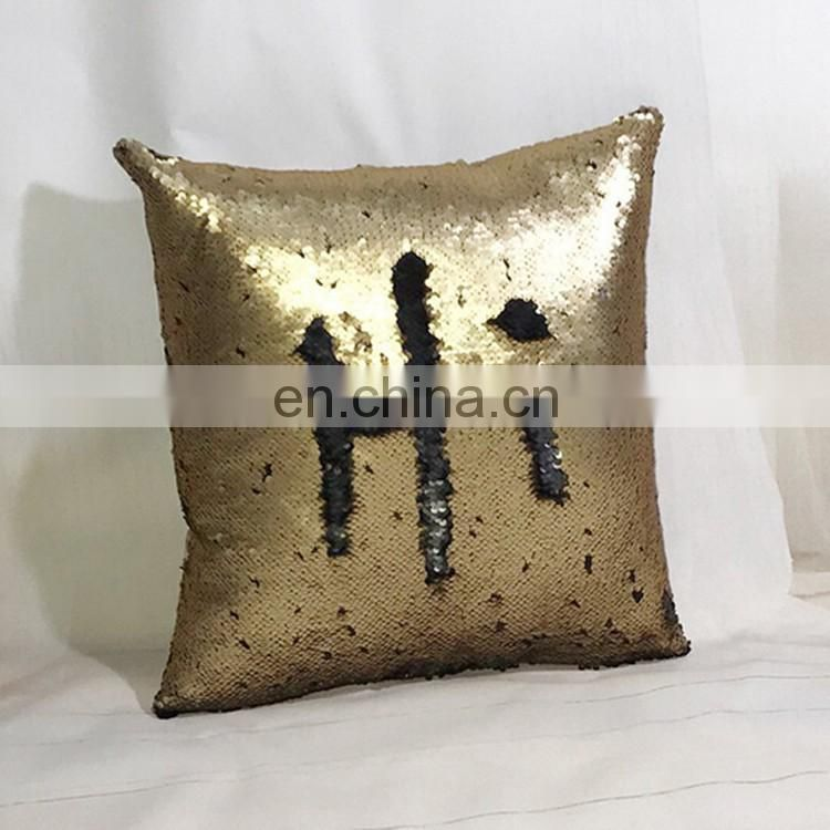 Professional customized reversible sequin fabric DIY cushion cover