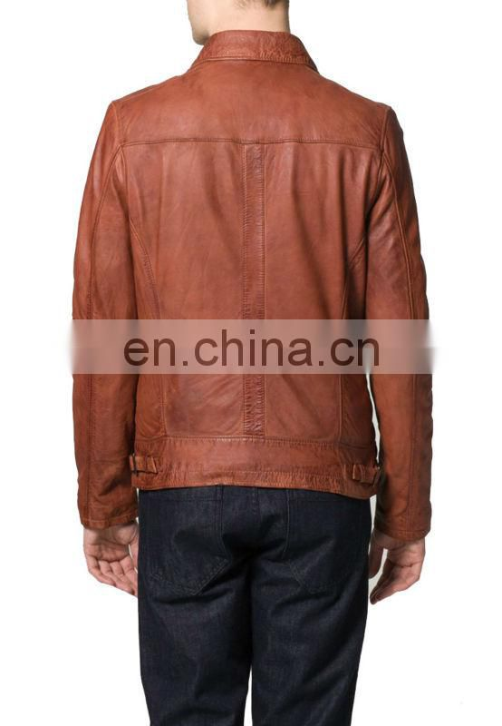 Beautiful design leather jacket in Soft lamb nappa