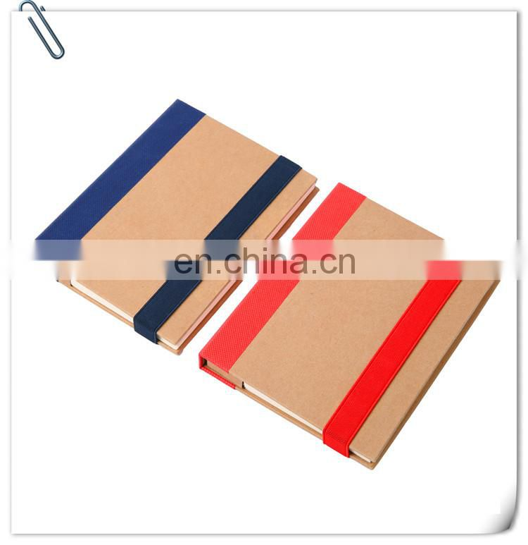 portable recycled booklet notebook with customized logo and ball pen