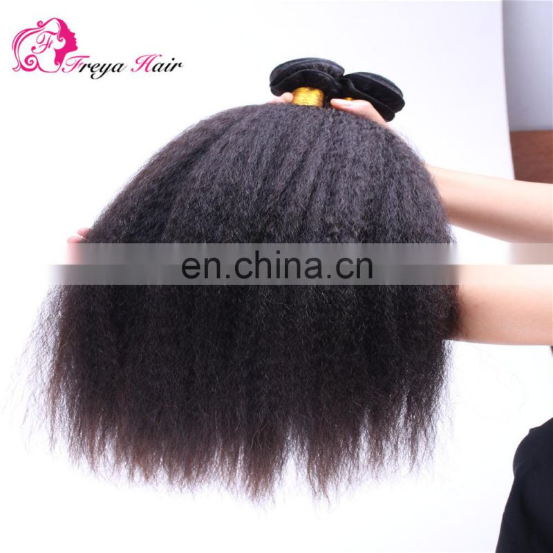 qingdao hair factory virgin human hair kinky straight cheap brazilian hair bundles