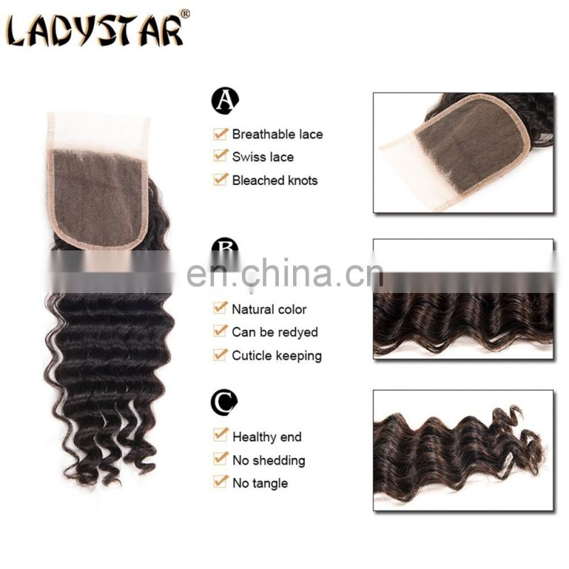 brazilian hair bundles with closure deep wave 3 bundles with closure virgin hair bundles
