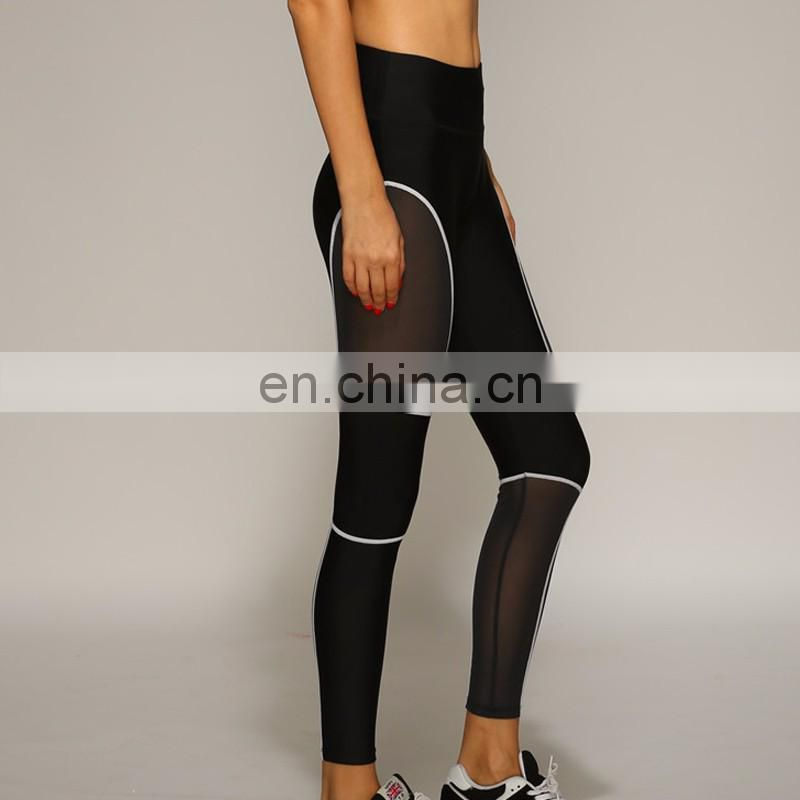 Mesh Splice Women Sporting Fitness Sexy Slim Leggins Breathable Wicking leggings