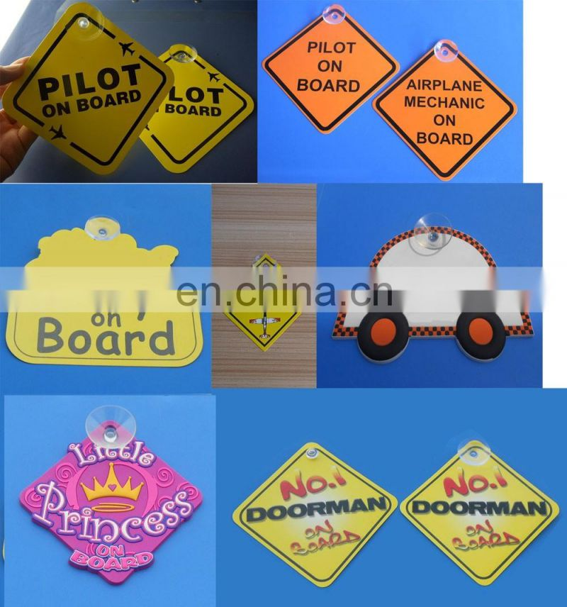 Wholesale Custom Rubber Suction Cup Car Window Sign Safety