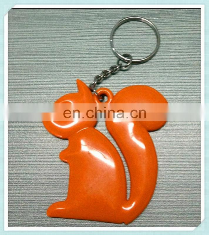 squirrel shaped plastic keychain