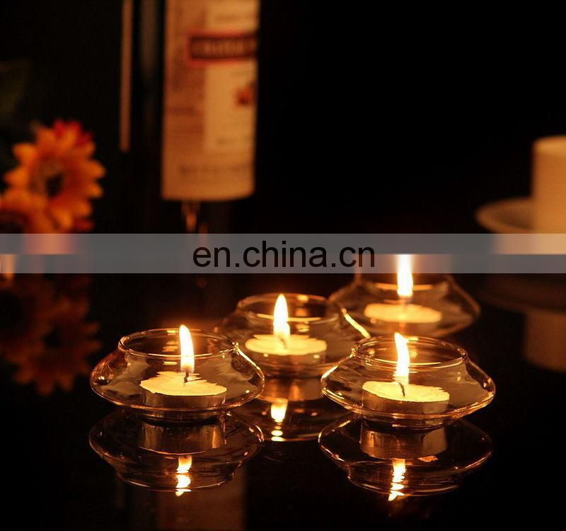 Clear Glass bowl floating tealight candle holders
