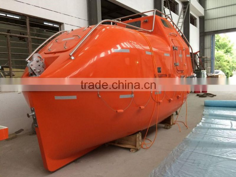 Fireproof fire resistant free fall twin fall lifeboat TEMPSC