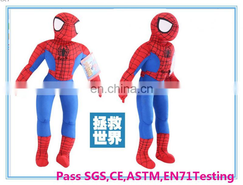 Fcatory customize spider-man plush toy