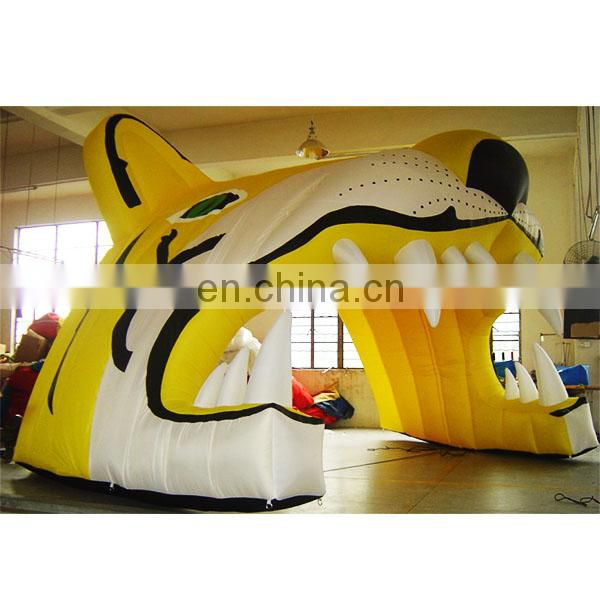 Good Quality Inflatable Tiger Tunnel,Inflatable Tiger Entrance For Sports Event
