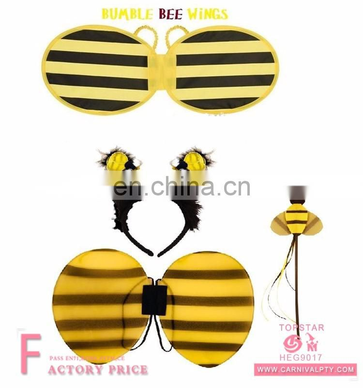 Yellow adult kids fairy wings wholesale Bee wings set