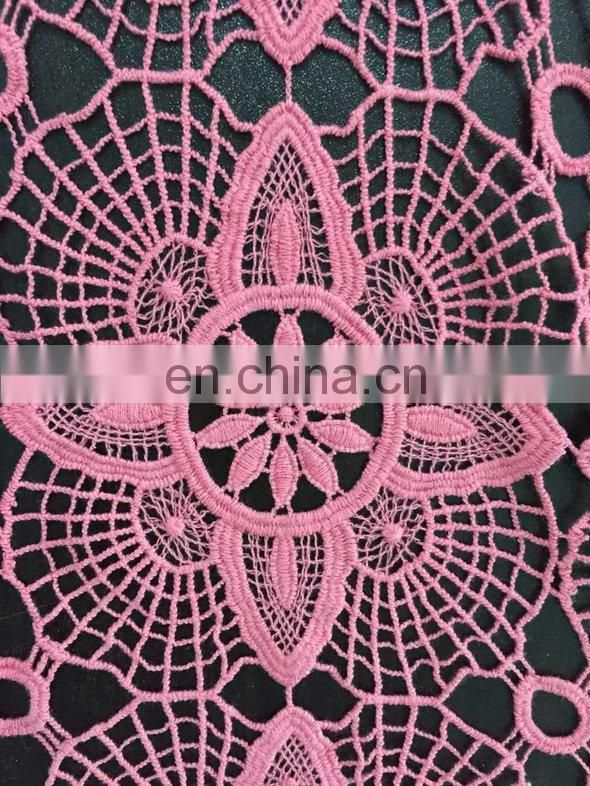 light chemical water soluble lace fabric
