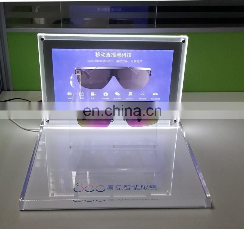 Factory custom Led pmma glasses display stand acrylic glasses display