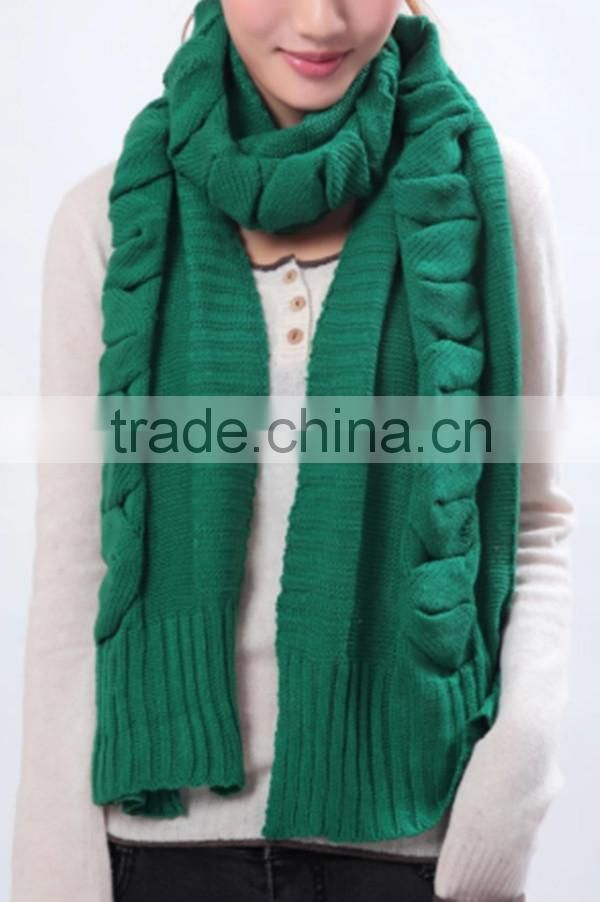 New fashion acrylic scarf knitted scarf