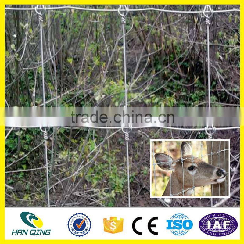 Galvanized High Tensile Strength Fixed Knot Wire Mesh Field Fence
