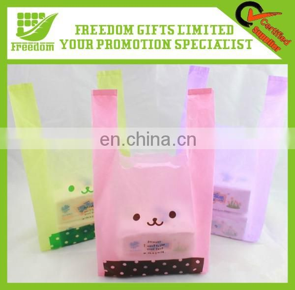 Promotional Logo Printed Packaging Shopping Bag Plastic Bag