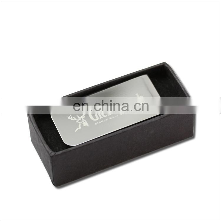 laser engrave stainless steel bar money clips