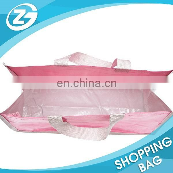 Factory OEM ODM Daily Shopping Reusable Red Lamination Custom Handled PP Woven Shopping Bag