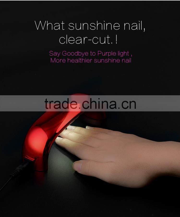 Free Sample!Sun-light 9W mini uv led gel nail polish lamp nail art kits