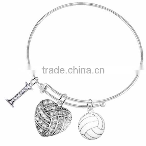 3D Soccer Player Kicking Ball Charm, Comes On An Intricately Detailed Antiqued Silver Tone Chain Link Bracelet
