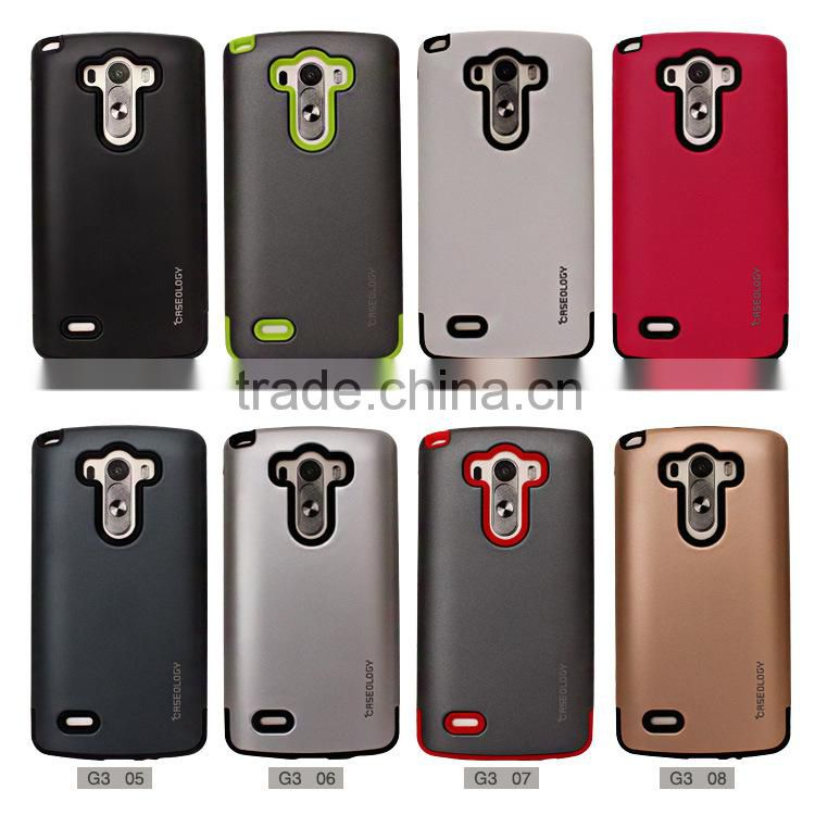 Stocked Armor Back Case Shockproof TPU+PC Material Cell Phone Cases Mobile Phone Cover for LG G3 G4