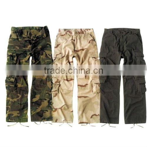 Black Military Paratrooper Fatigues Trousers