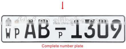 aluminum license plates/vehicle number plate/car number plate