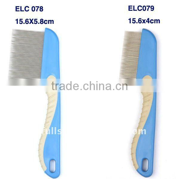nit comb with soft rubber handle