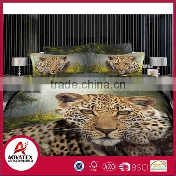 2016 new style 13372 60*40s reactive printed 3D china supplier bedding set