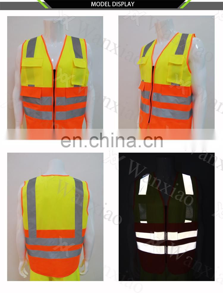 industrial yellow security vest reflective safety vest with logo print