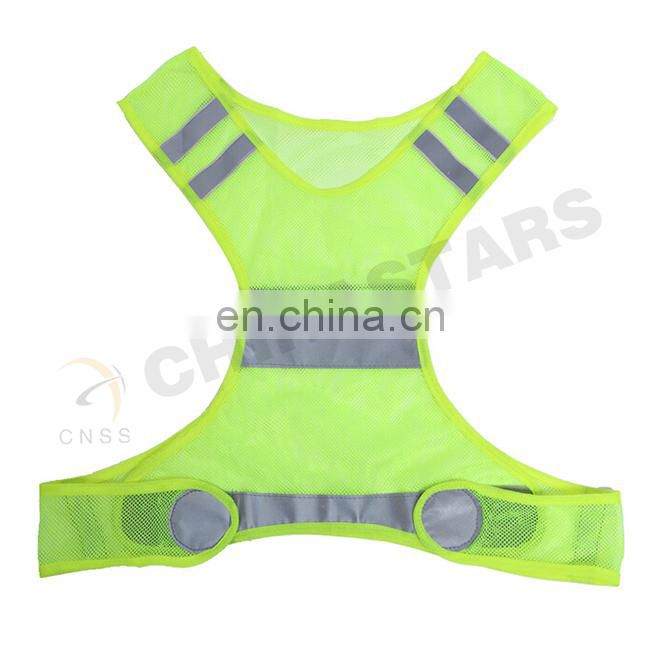 Light weighted Running reflective vest with customized logo imprint